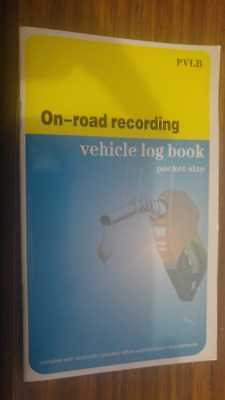 Vehicle Log Book  record travel for ATO tax purposes - OLD PRINT RUN
