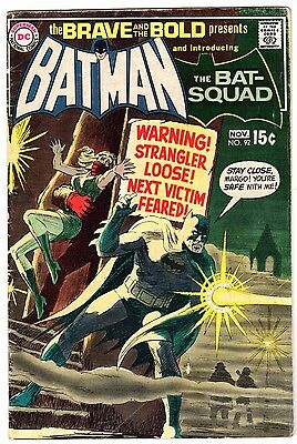 Brave and Bold #92 with Batman & Introducing The Bat Squad, VG - Fine Condition