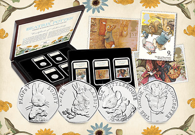 New 2018 Beatrix Potter Coin & Stamp Set Limited Edition With CoA