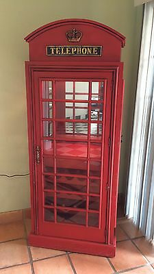 red british phone booth wood wine bar cabinet old cast iron style rh picclick com british phone booth wine cabinet british phone booth wine cabinet