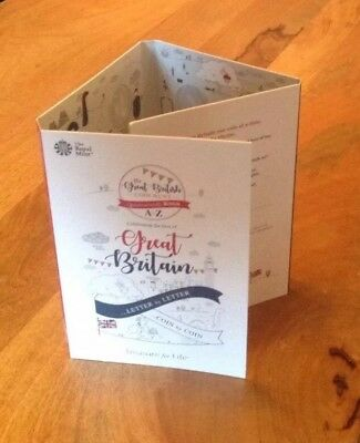Great Britain 2018 A-Z 10p Collector Album For 26 Alphabet Letter Coins