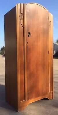 Beeanese 1950's/60's Single Teak Wardrobe in Original Condition