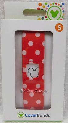 Disney Parks Magic Band Coverbands Cover Minnie Mouse Polka Dots Small Sm New  F
