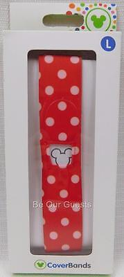 Disney Parks Magic Band Coverbands Cover Minnie Mouse Polka Dots Large Lg New  F