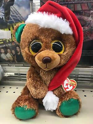 Ty Beanie Boos collectable Nicholas the Christmas Bear 2018 Exclusive NEW c064b47a3074