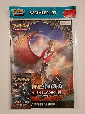 Pokemon SAMMLER-KIT Sonne & Mond   NACHT IN FLAMMEN  ungelesen, OVP 1A TOP