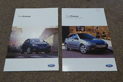 Ford Focus Brochures 2004 plus Limited-Edition Flight and Edge Model 2003 Car