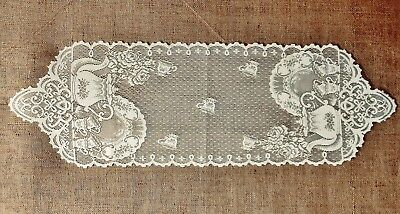 Heritage Lace Tea Pots Table Runners and Place Mats White and Ivory Kitchen