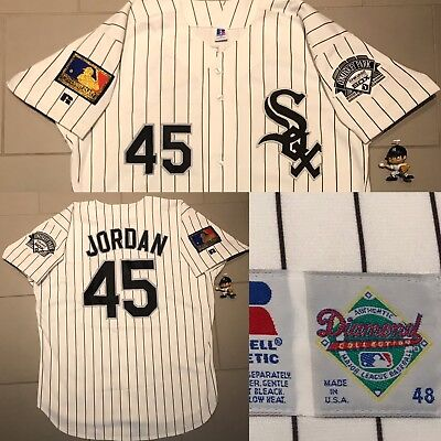 c9b286d3f7f ... where to buy rare michael jordan authentic chicago white sox jersey  1994 russell size 48 xl