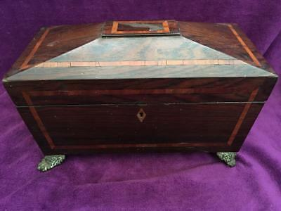 Domed Inlaid Antique Tea Caddy