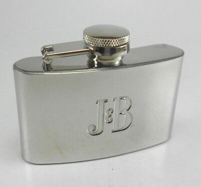 J&B Limited Blended Scotch Whisky Pocket Flask - Stainless - Free S&H