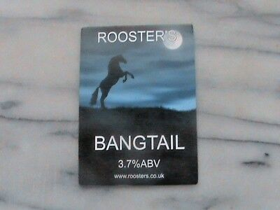 Roosters Bangtail real ale beer pump clip sign