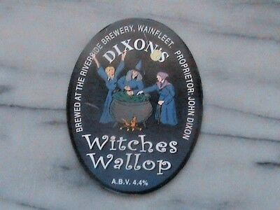 Riverside Dixon's Witches Wallop real ale beer pump clip sign
