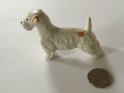 Vintage Porcelain  - Sealyham Terrier Dog Figure - Made in Occupied Japan