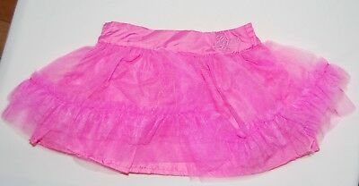 NWT GUESS Infant Girls Candy Pink Tulle Tutu Ruffled Lined Skirt Sz 18M 24M