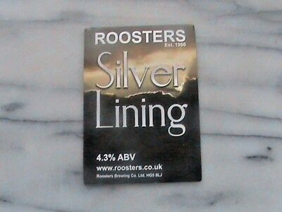 Roosters Silver Lining real ale beer pump clip sign