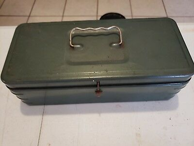 Vintage Metal Latch Box with Handle