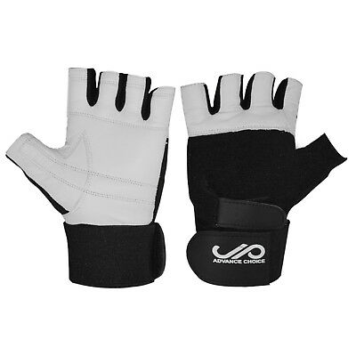 JP Leather Weight Lifting Gym Gloves Body Building Training Fitness CA