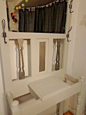 Newly Upcycled Victorian Hall Coat Stand , Antique / Vintage one of a kind
