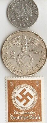 -WW2  - *german  and  *US   coins  and  stamps