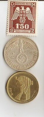 """-*WWII - *german  coin / stamp with *egyp. """"CLEOPATRA"""" coin"""