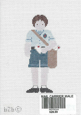 Mail Carrier handpainted needlepoint canvas from Petei