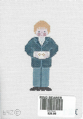 Ring Bearer handpainted needlepoint canvas from Petei