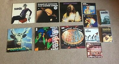 """Shed Seven  - 12"""", 7"""" Vinyl and Change Giver tape Collection"""