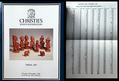 Christies London Tribal African Art 12/4/1984   Hj 1