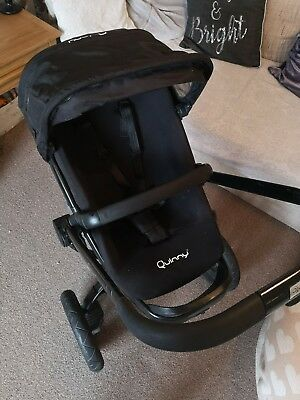 Quinny Buzz Black Travel System. Pram Pushchair Car Seat Raincover Parasol...