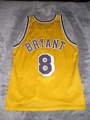 super popular 6acad 174ab VINTAGE KOBE BRYANT #8 Rookie 1996 Lakers NBA Jersey, Champion size 40  Authentic