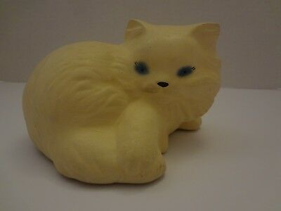 Persian White Cat with Blue Eyes Polyresin Ceramic Figurine