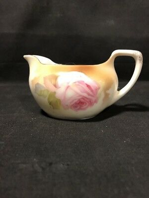 Antique RS Germany Pink Rose Porcelain Small Creamer Pitcher German 1920s