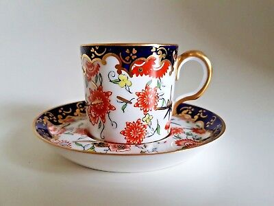 Antique Royal Crown Derby Imari Japan 9259 Cabinet Duo cup and saucer C1916