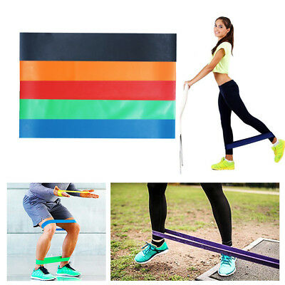 Elastic Resistance Stretch Loop Band Yoga Gym Fitness Exercise Rubber Rope Strap