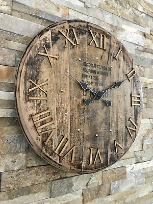 Clock - Rustic Clock - Large Clock - Jim Beam - Barrel Clock