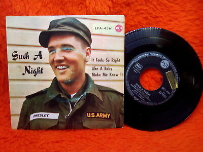 Elvis Presley Ep 45T Sush A Night Like A Baby + 2  Rca Epa 4361 Germany