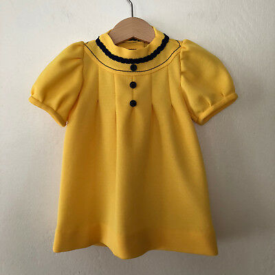 Vintage 60s Baby Girls Mod Dress Size 12 - 18 months