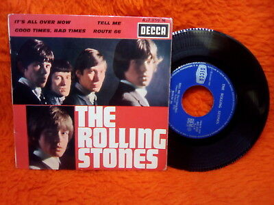 The Rolling Stones Ep 45T It's Alla Over Now+ 3  Decca 457 039 M France