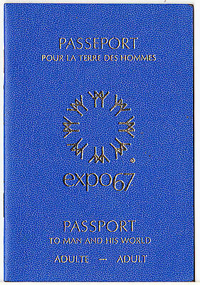 1967 Montreal Expo Passport With Stamps: Portland Indiana