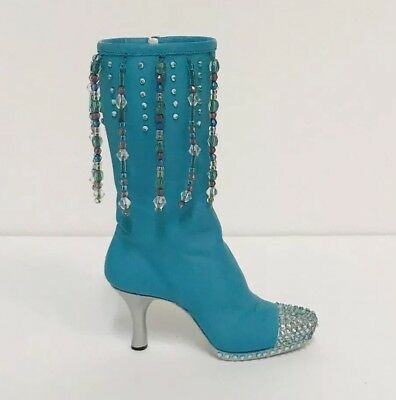 Just The Right Shoe Groovy Baby 25102 By Raine Beaded Boot Vintage 2000