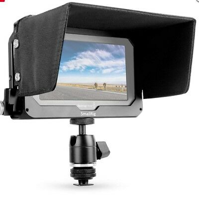 SMALLRIG Monitor Cage with Sun Hood and Ball Head Mount for Blackmagic Video