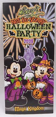 Disney Mickey's Not So Scary Halloween Party Guide Map 2008 New