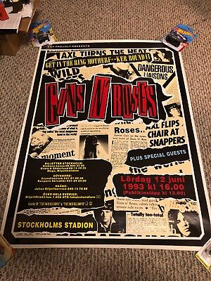 Guns N' Roses Use Your Illusion Tour Poster Sweden 1993