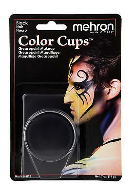 Mehron Color Cup Professional Quality Greasepaint/Carded .5oz Black