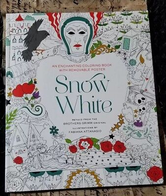 Snow White Adult Coloring Book by Fabiana Attanasio (2016, Paperback)