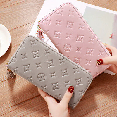 ladies women girl Quality Top Leather money Wallet Credit Card Holder Purses UK