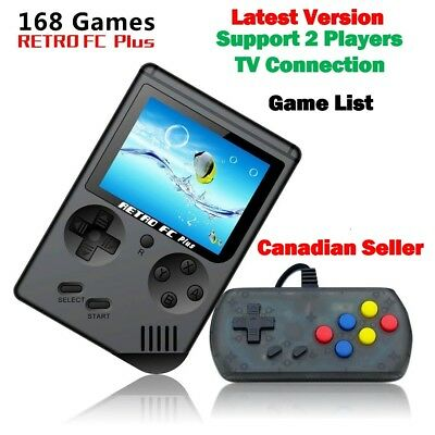 "Game boy Retro FC Plus Mini TV Video Game Console 168 Games 3"" Gamepad Nintendo"