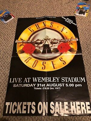 Guns N' Roses Use Your Illusion Tour Poster Wembley 1991 Izzy's Last Show MTV