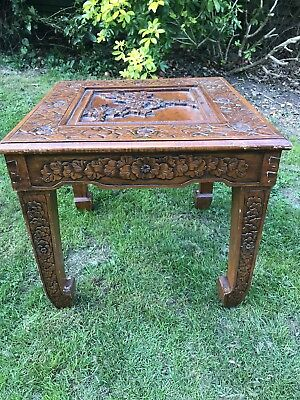 Vintage CARVED Oriental TABLE